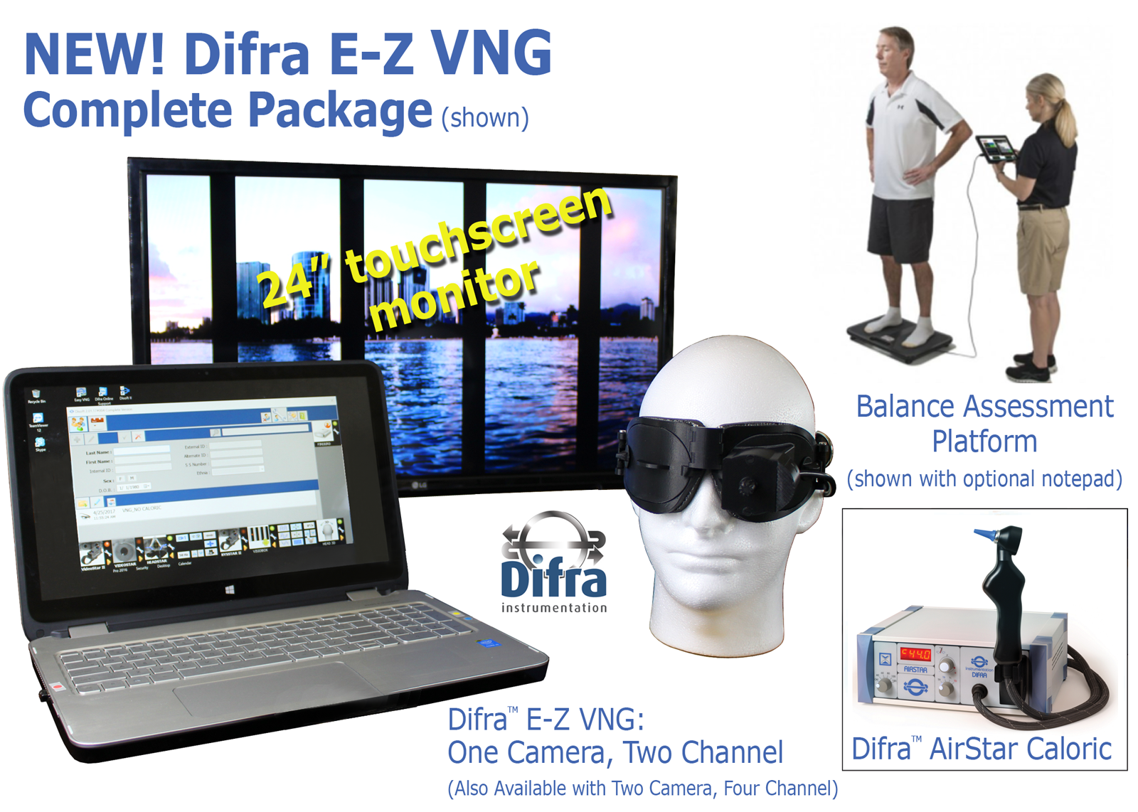 "Difra complete EZ VNG package with 24"" touchscreen monitor"